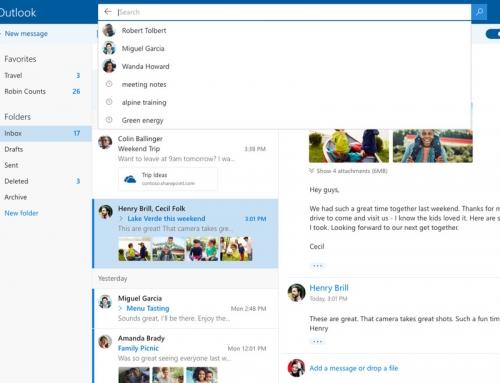 Spoznajte novi dizajn Outlooka